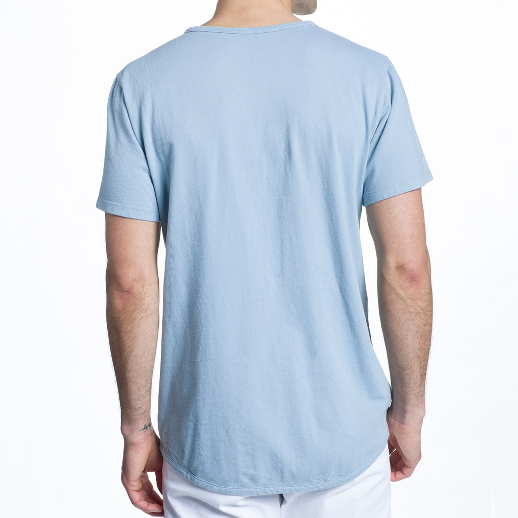 THE 100% MADE IN THE USA SS POCKET TEE - LT BLUE