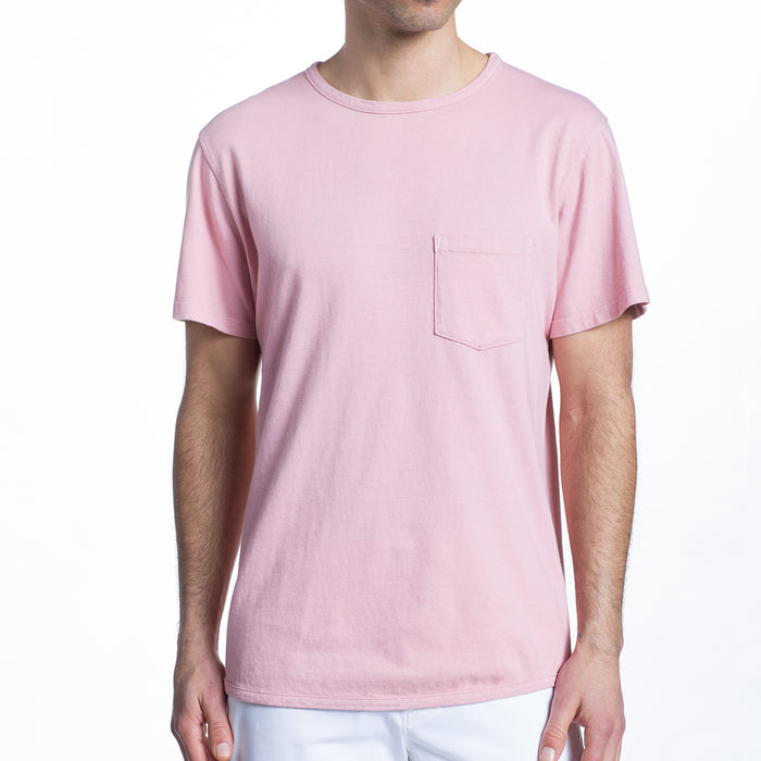 THE 100% MADE IN THE USA SS POCKET TEE - SOFT PINK
