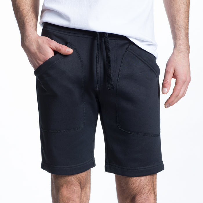 The Lux French Terry Short in Deep Navy