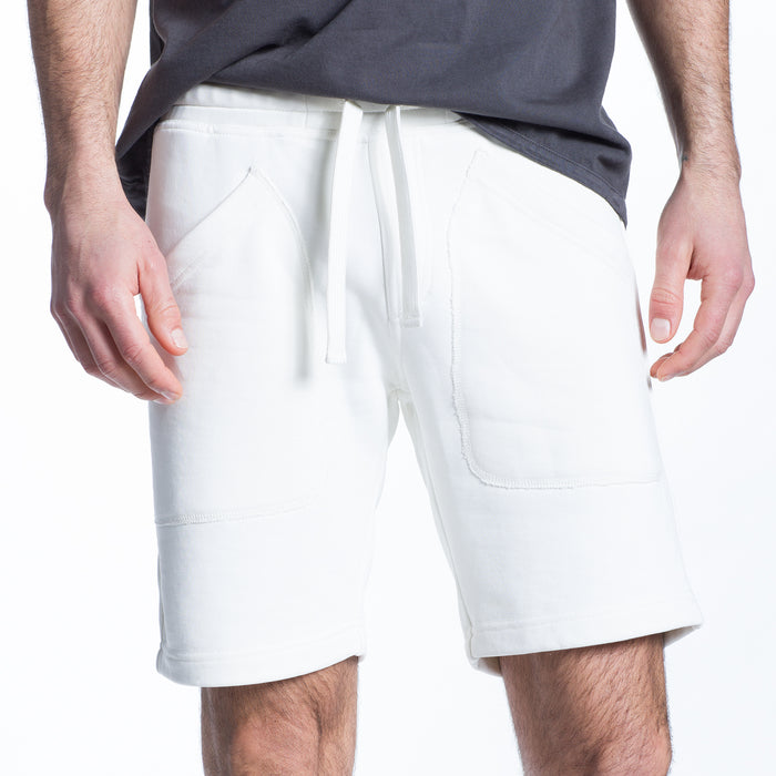 The Lux French Terry Short in Creme