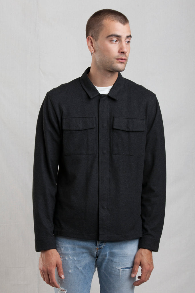 The Comfy ShirtJack in Charcoal