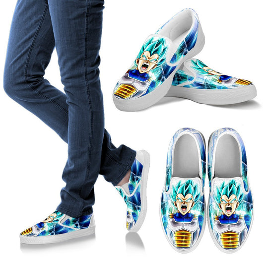 (DBMerch) SSGSS Vegeta Slip On Shoes