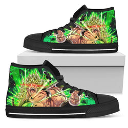 (DBMerch) Enraged Broly High Top Shoes