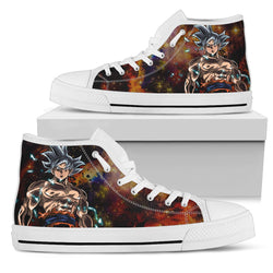 (DBMerch) Ultra Instinct Goku High Top Shoes (White)