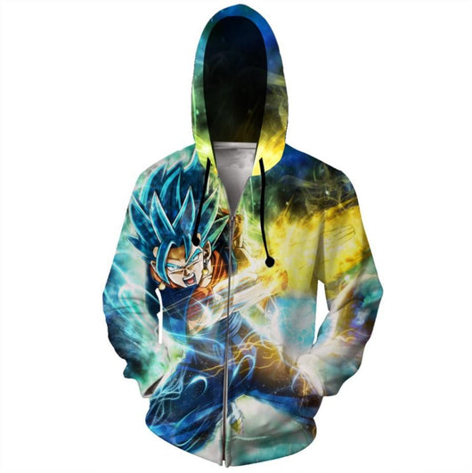 (DBMerch) SSGSS Vegito Spirit Sword Zipper Hoodie