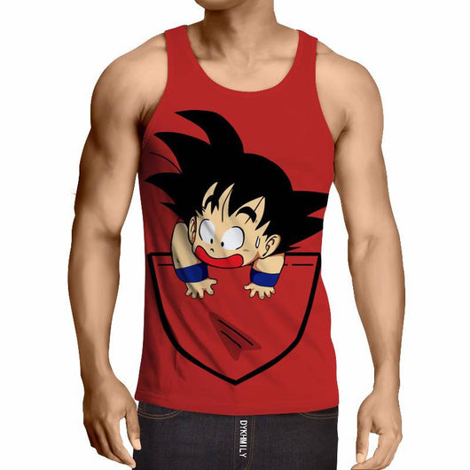 Kid Goku Pocket Tanktop