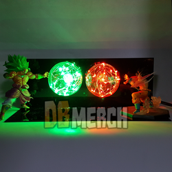 SSJ3 Broly VS Goku LED Set
