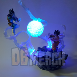 Son Goku VS Vegeta Night Lights - DIY Led Scene