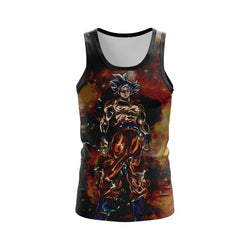 (DBMerch) White Ultra Instinct Goku Tanktop