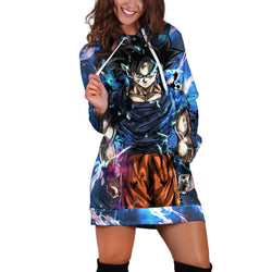 (DBMerch) Ultra Instinct Sign Goku Hoodie Dress
