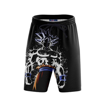 White Ultra Instinct Goku Splatter Shorts