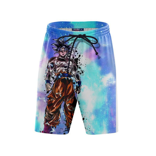 (DBMerch) White Ultra Instinct Goku Remastered Shorts