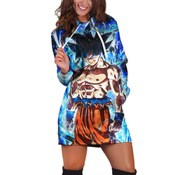 (DBMerch) Dokkan Ultra Instinct Sign Goku Hoodie Dress