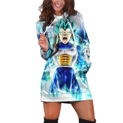 (DBMerch) SSGSS Vegeta Hoodie Dress