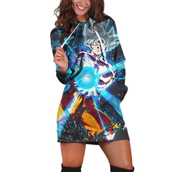 (DBMerch) Ultra Instinct Goku Hoodie Dress