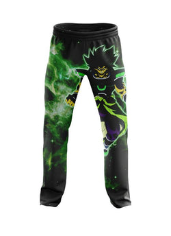 (DBMerch) Yellow Eyed Broly Joggers