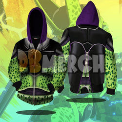 (DBMerch) Perfect Cell Armor Zipper Hoodie