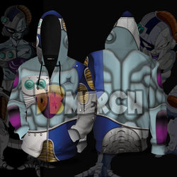 (DBMerch) Mecha Frieza Armor Zipper Hoodie