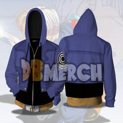 (DBMerch) Future Trunks Armor Zipper Hoodie