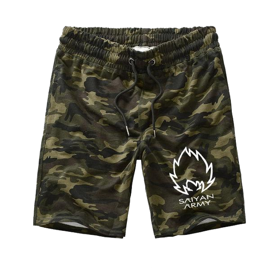 Casual Camo Saiyan Army Shorts