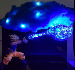 SSJ Goku Kamehameha Cloud LED Figure