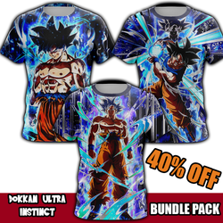 (BUNDLE PACK) Dokkan Ultra Instinct Goku T-Shirts