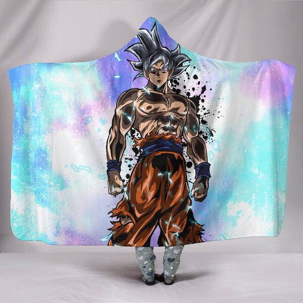 (DBMerch) Ultra Instinct Goku Premium Hooded Blanket