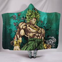 (DBMerch) Legendary Super Saiyan Broly Premium Hooded Blanket