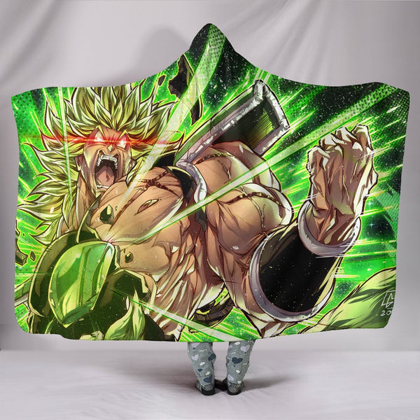 (DBMerch) Enraged Broly Premium Hooded Blanket