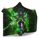 (DBMerch) Yellow Eyed Broly Hooded Blanket
