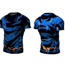Damaged Goku Compression T-Shirt