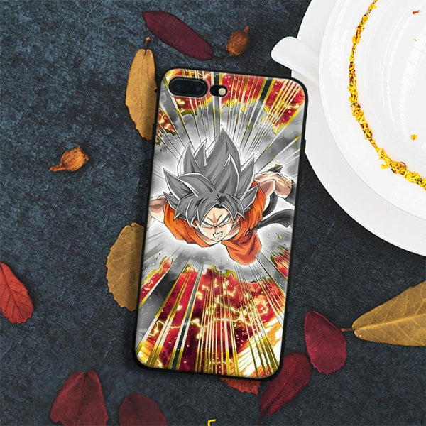 (iPhone) Dokkan Goku Saiyan Soft Silicone Phone Case Cover