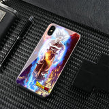 Ultra Instinct Goku Tempered Glass Soft Silicone Phone Case (iPhone)