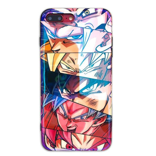 (iPhone) Goku Transformations Silicone Phone Case