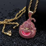 Iced Out Majin Buu Pendant Necklace