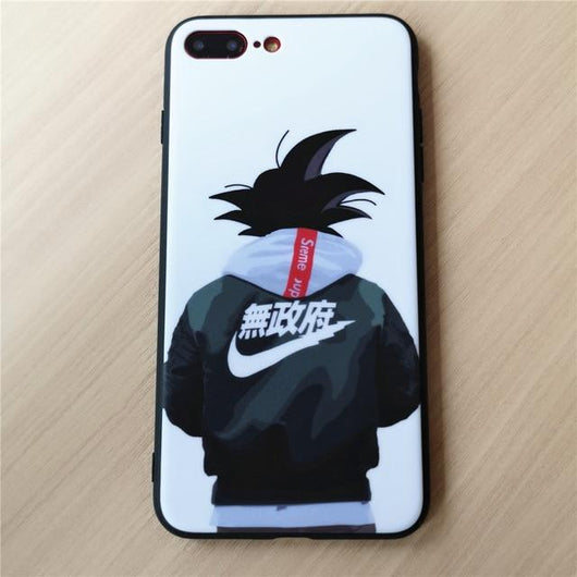 (iPhone) Street Goku Soft Silicone Case