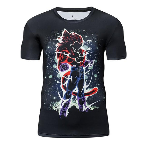 Premium Compression SSJ4 Vegeta Gym T-Shirt