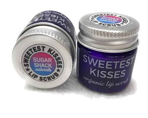 Sugar Shack Naturals Sweetest Kisses: Organic Lip Polish Sugar Scrub for Silky Smooth Lips with Organic Shea Butter and Organic Coconut Oil 15ml