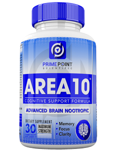 AREA 10 Cognitive Support Advanced Scientific Nootropic Formula for Memory, Clarity and Focus, Neurological Health, and: Optimal Brain Boost Function, 30 Capsules