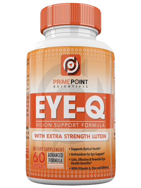 EYE-Q Powerful Vision Support Advanced Formula with: Extra Strength Lutein, Bilberry, Vitamin A and Zinc, BEST Support for Retina and Macula with Vitamins and Antioxidants 60 Tablets