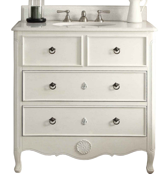 "34"" Benton Collection Daleville Bathroom Sink Vanity - Benton Collection HF-081AW"
