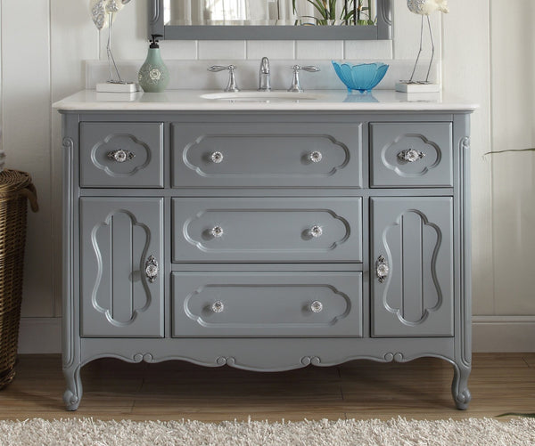 "48"" Victorian Cottage Style Knoxville Bathroom sink vanity Model GD-1522CK-48BS - Chans Furniture - 2"