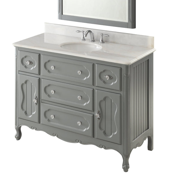 "48"" Victorian Cottage Style Knoxville Bathroom sink vanity Model GD-1522CK-48BS - Chans Furniture - 4"