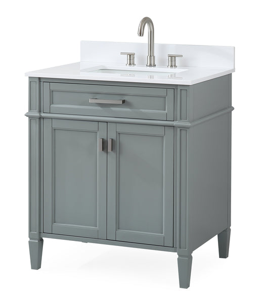 "30"" Tennant Brand Durand Modern Gray Bathroom Sink Vanity - 1808-V30CK"