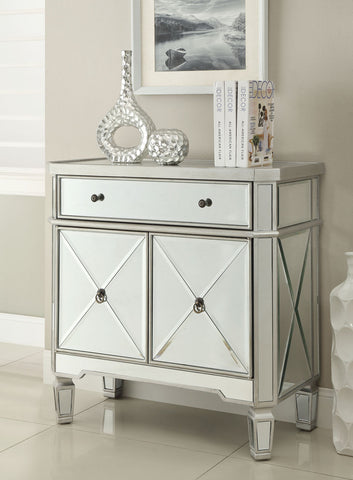 32-inch  Amelia Mirrored 1-Drawer, 2-Door Console DH-228 - Chans Furniture - 1