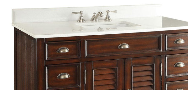 "46"" Abbeville Bathroom Sink Vanity, Brown - Benton Collection Model CF-28369BN"
