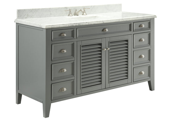 "60"" All wood construction Kalani Bathroom Single Sink Vanity -3028-CK60S"
