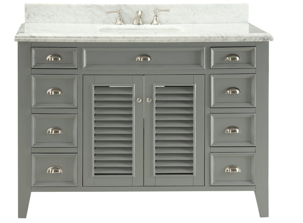 "50""  Shutter Blinds Kalani Single Sink Bathroom Vanity model #  3028-CK50"