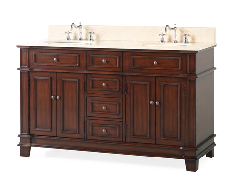 "60"" Timeless Classic Sanford Double Sink Bathroom Vanity  model # CF-3048M-60"