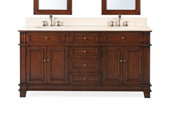 "70"" Sanford Double Sink Bathroom Vanity - Benton Collection Model CF-3048M-70"